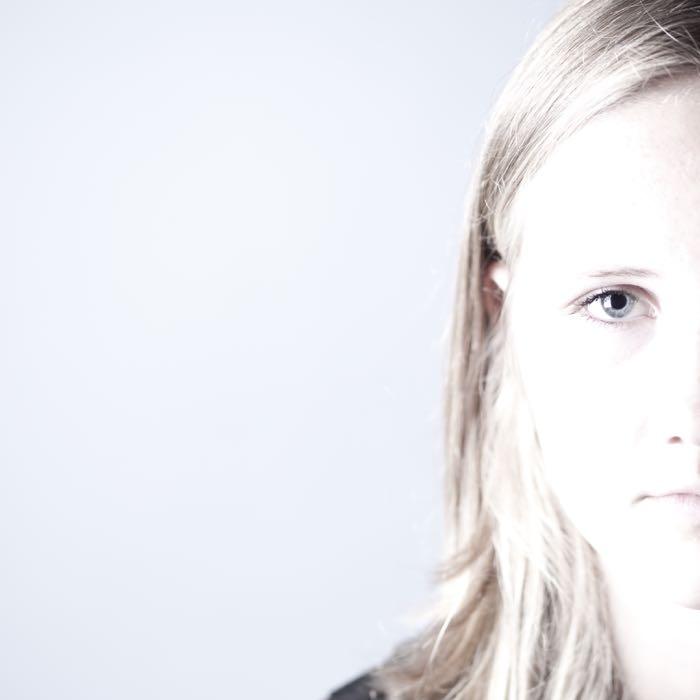 Half a face of a women