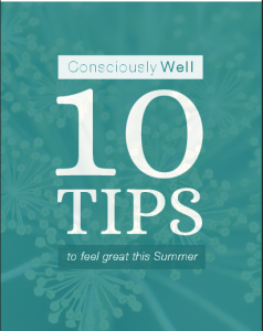 Consciously Well 10 tips cover