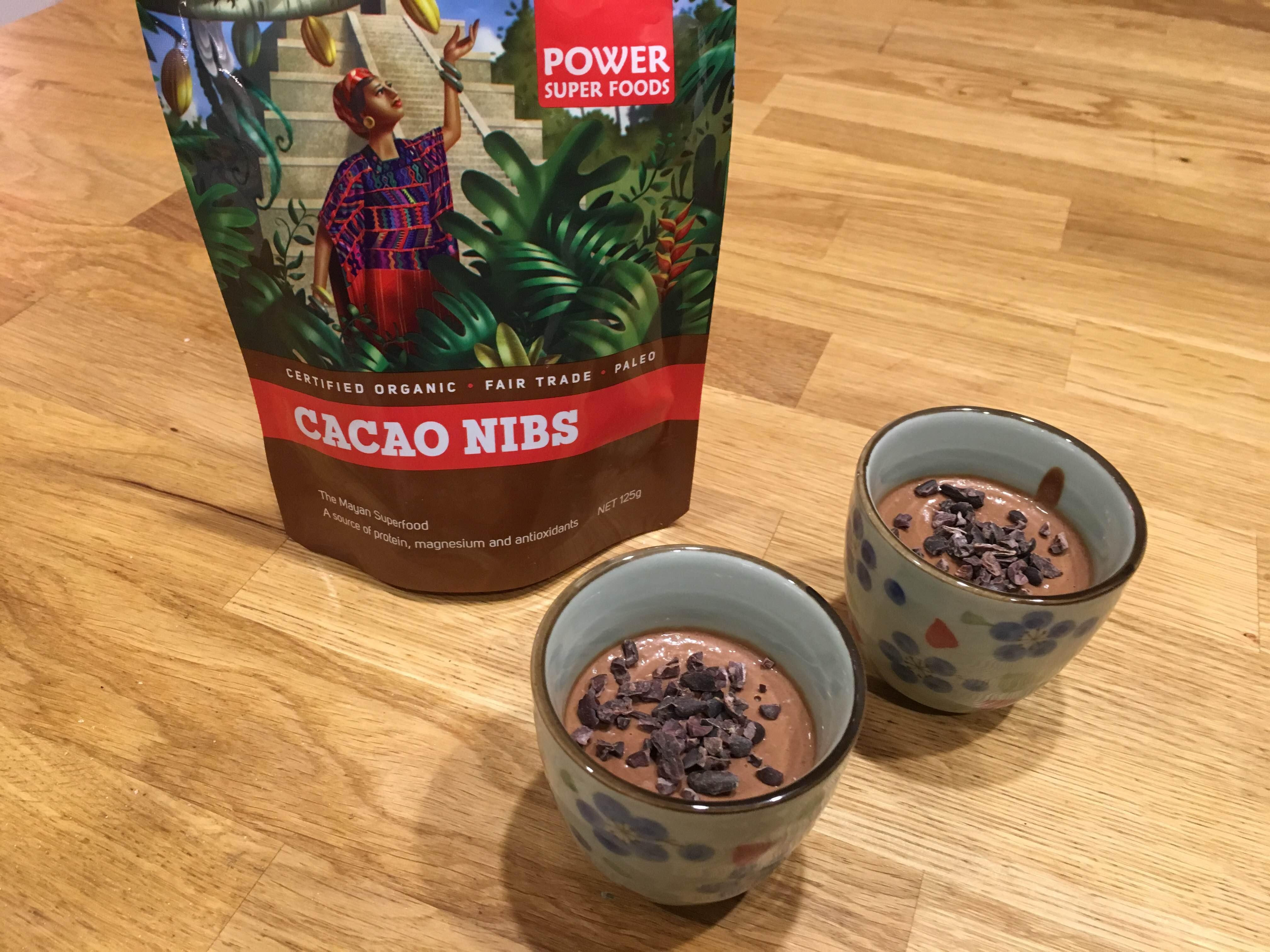 Vegan healthy Cacao chocolate moose recipe