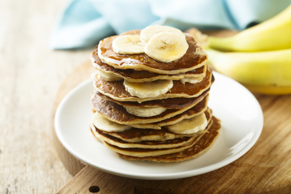 Healthy homemade EASY banana pancake recipe